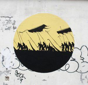 Dot Dot Dot collab with David de la Mano, UpNorth Street Art Festival, Bodø, Norway