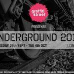 GraffitiStreet Presents 'Underground 2016', an urban art group show in London