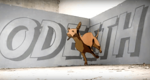 Odeith, Dream the impossible... do the incredible. Running Dog. Photo credit Odeith