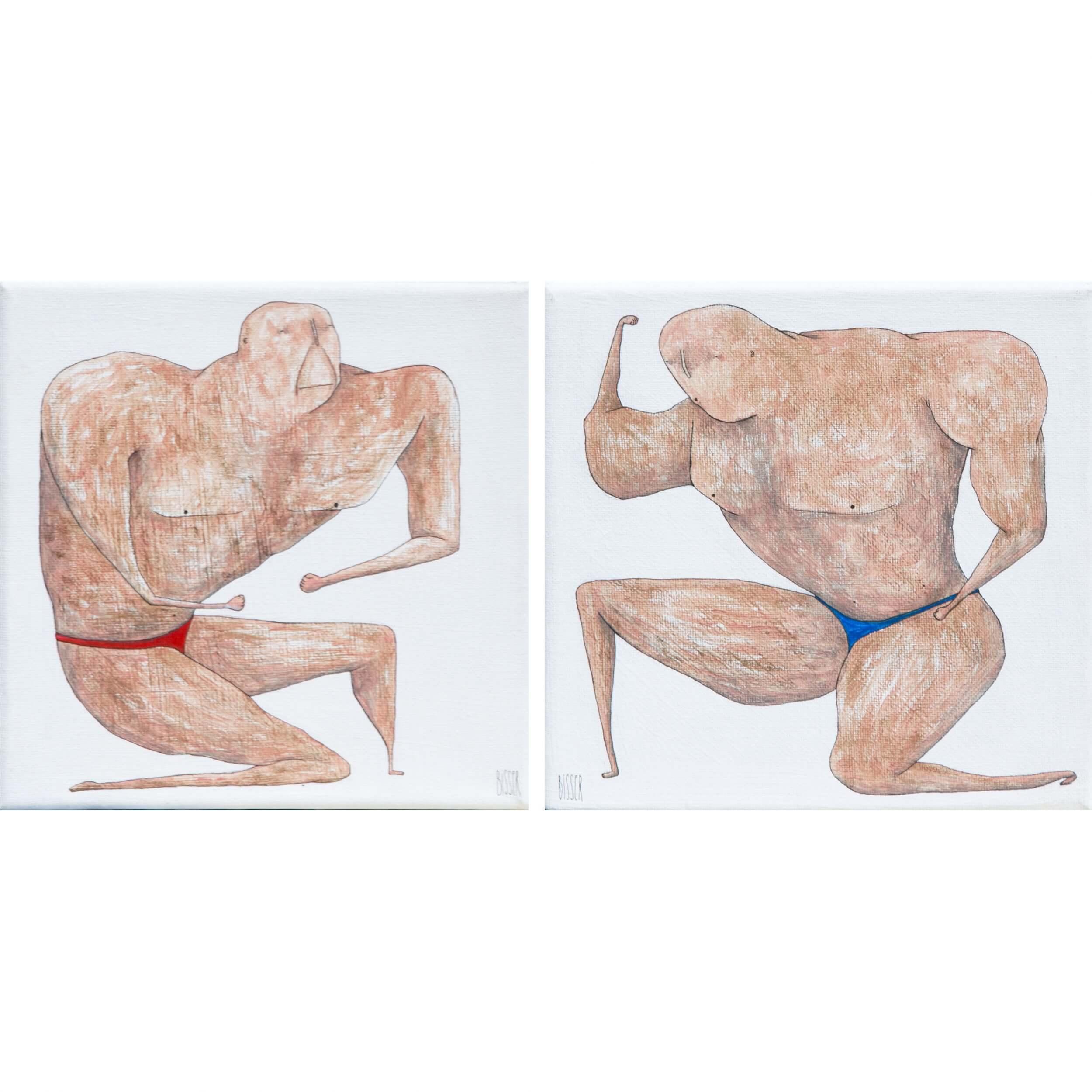 Bisser - Bodybuilders Diptych