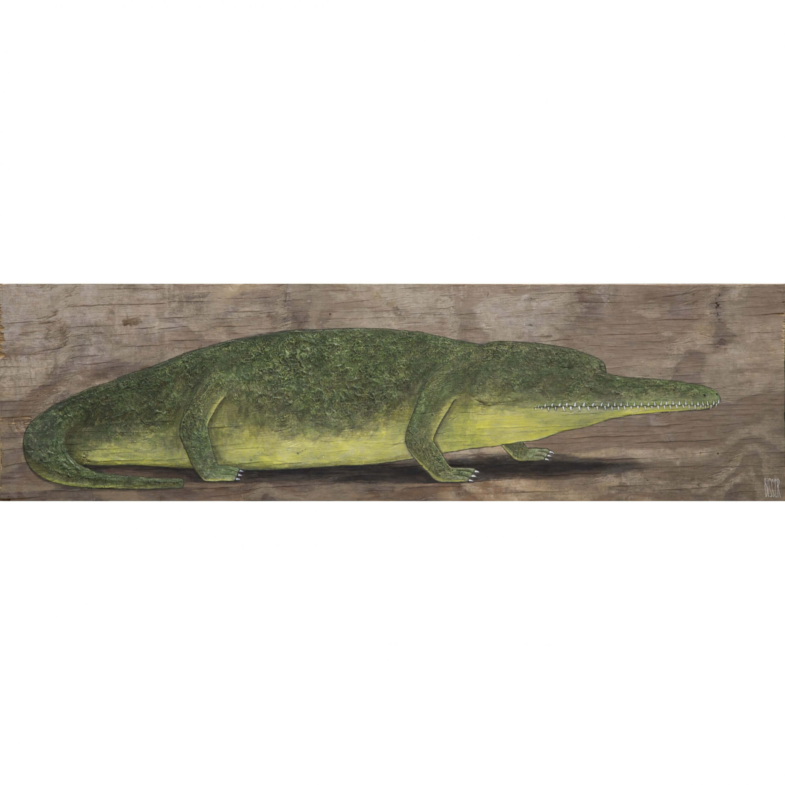 Bisser - Crocodile (on Wood)