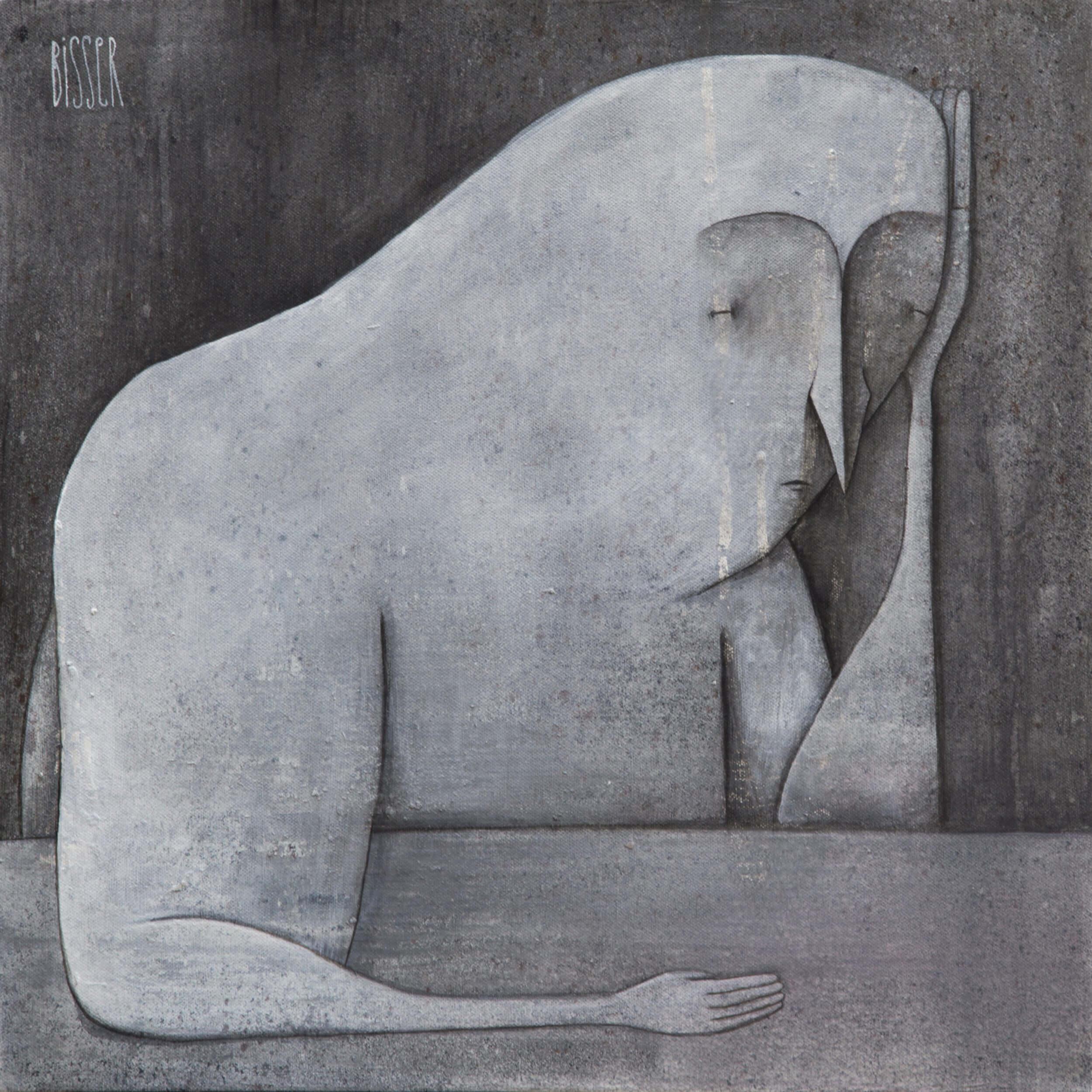 Bisser - Grey Thinking Canvas