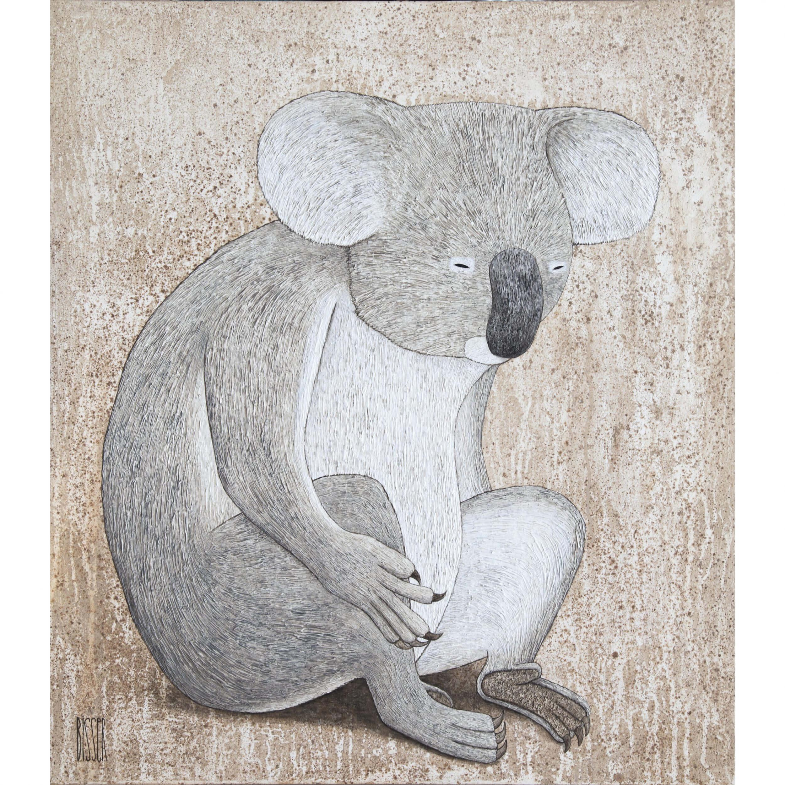 Bisser - Koala (on Wood)
