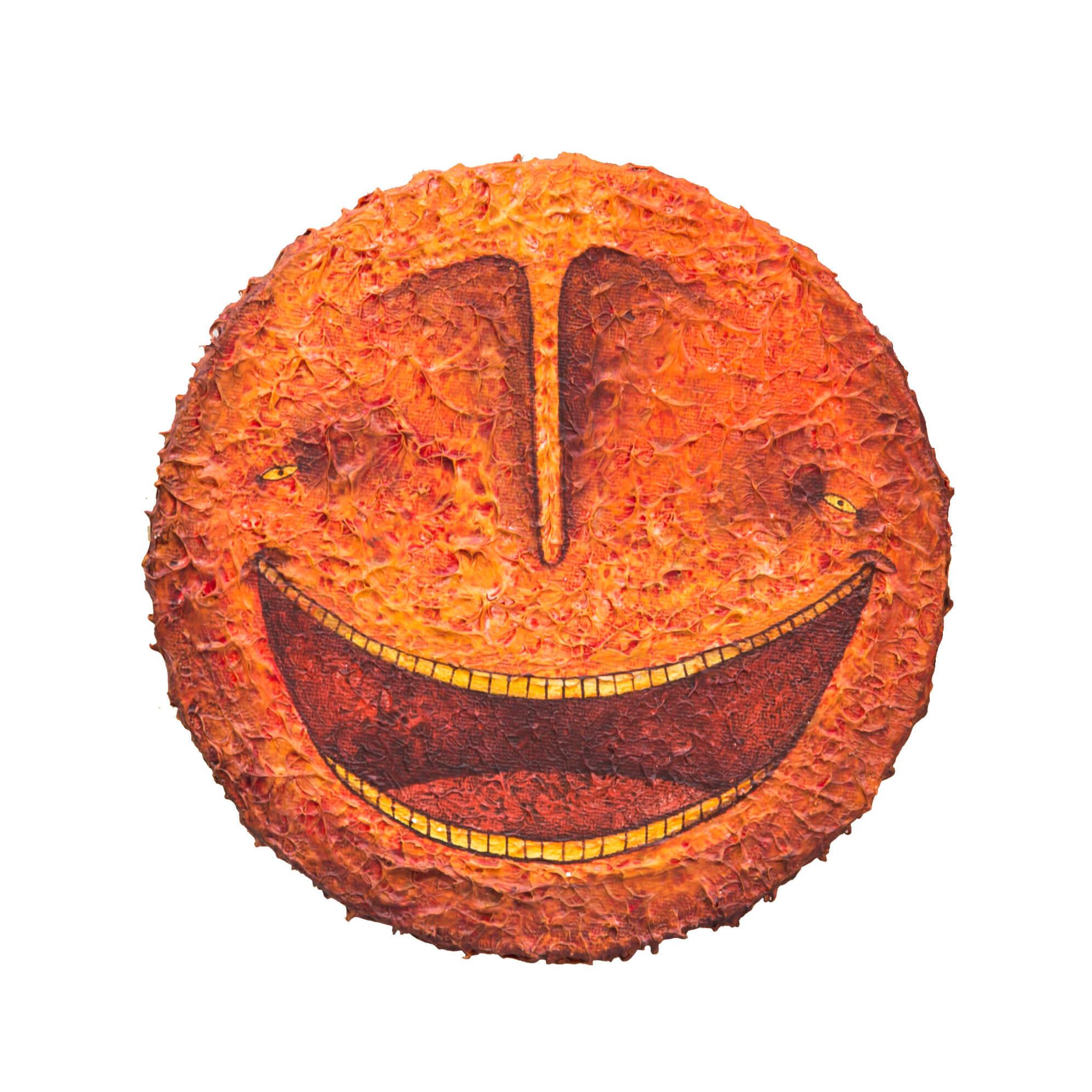 Bisser - Red Smiley Canvas