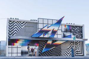 Felipe Pantone - Life is Beautiful Street Art Festival - Downtown Las Vegas - Photo credit JustKids
