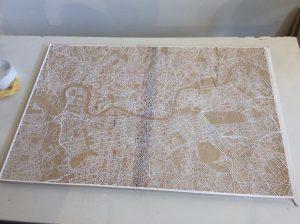 Nils Westergard, Stencil cut map of London, Underground 2016