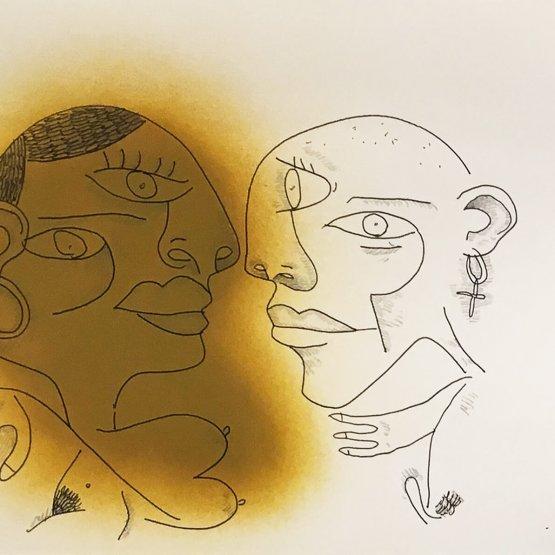 Hunto - Sketch on paper #1 - 2016