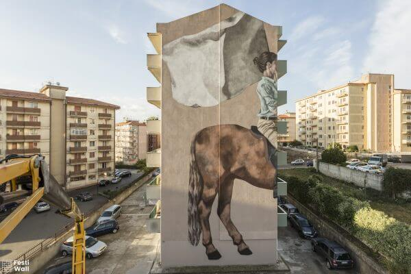 Hyuro, Festiwall, Street art festival, Sicily Photo credit Marcello Bocchieri