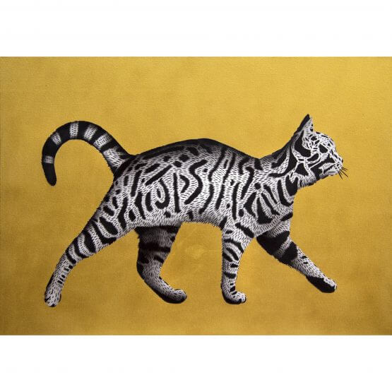 JPS - Bling Tag Cat Canvas