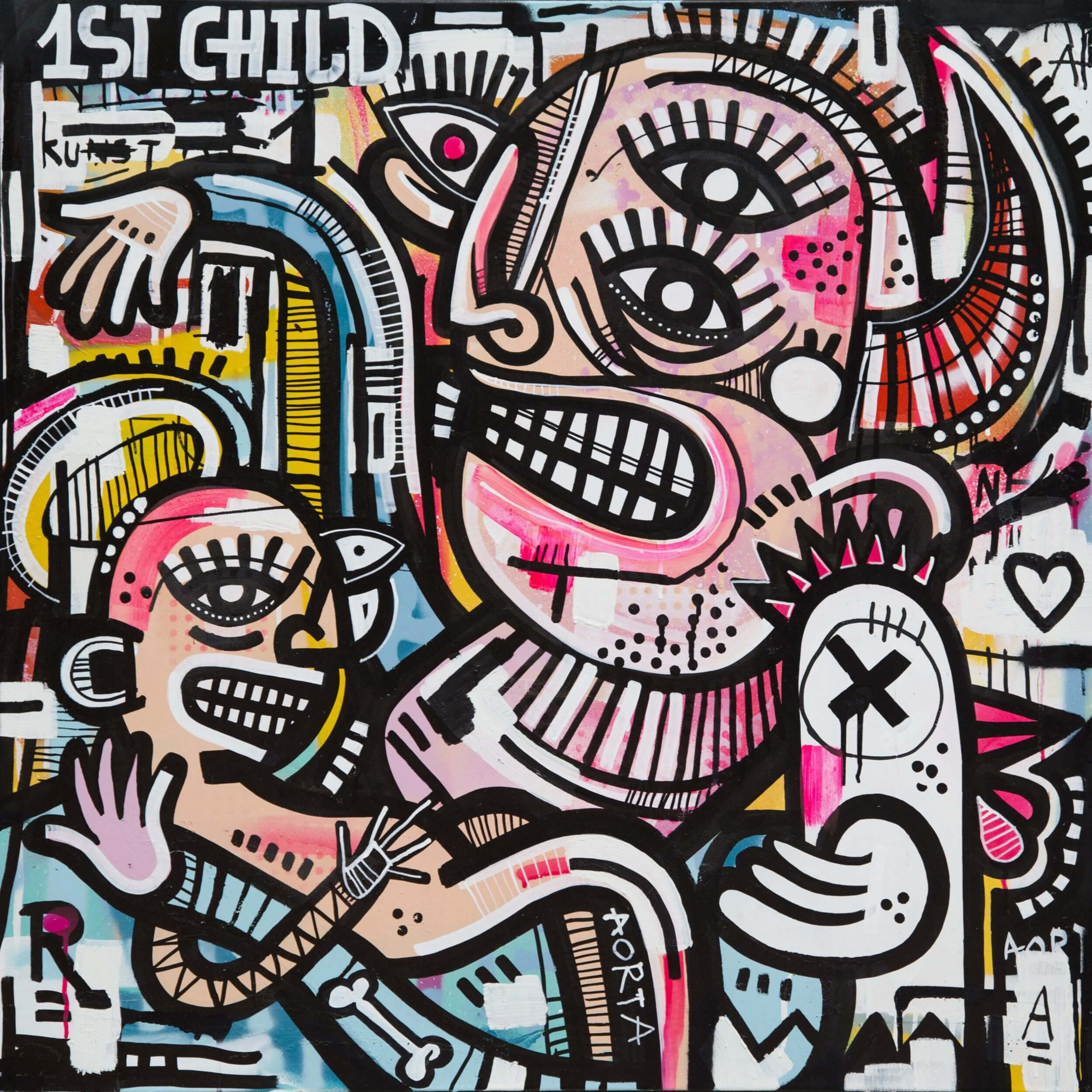 Joachim - Child & Chick Canvas