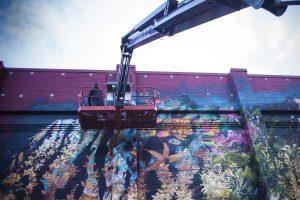 Ernesto Maranje, Paint outside the lines project, Portland. Photo credit aptART
