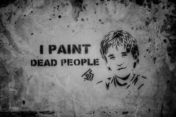 JPS - I Paint Dead People Street Art (Photo credit: John Taylor)