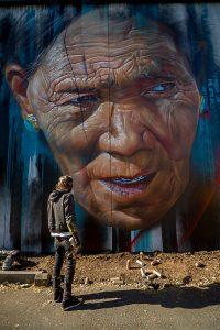 Adnate, Street Art Mural, Fitzroy, Melbourne, Australia 2016. Photo credit p1xels.
