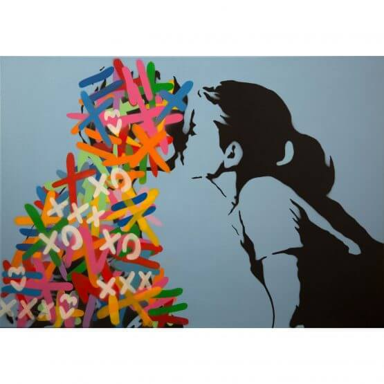 3F - The Kiss (Baby Blue Edition) Canvas