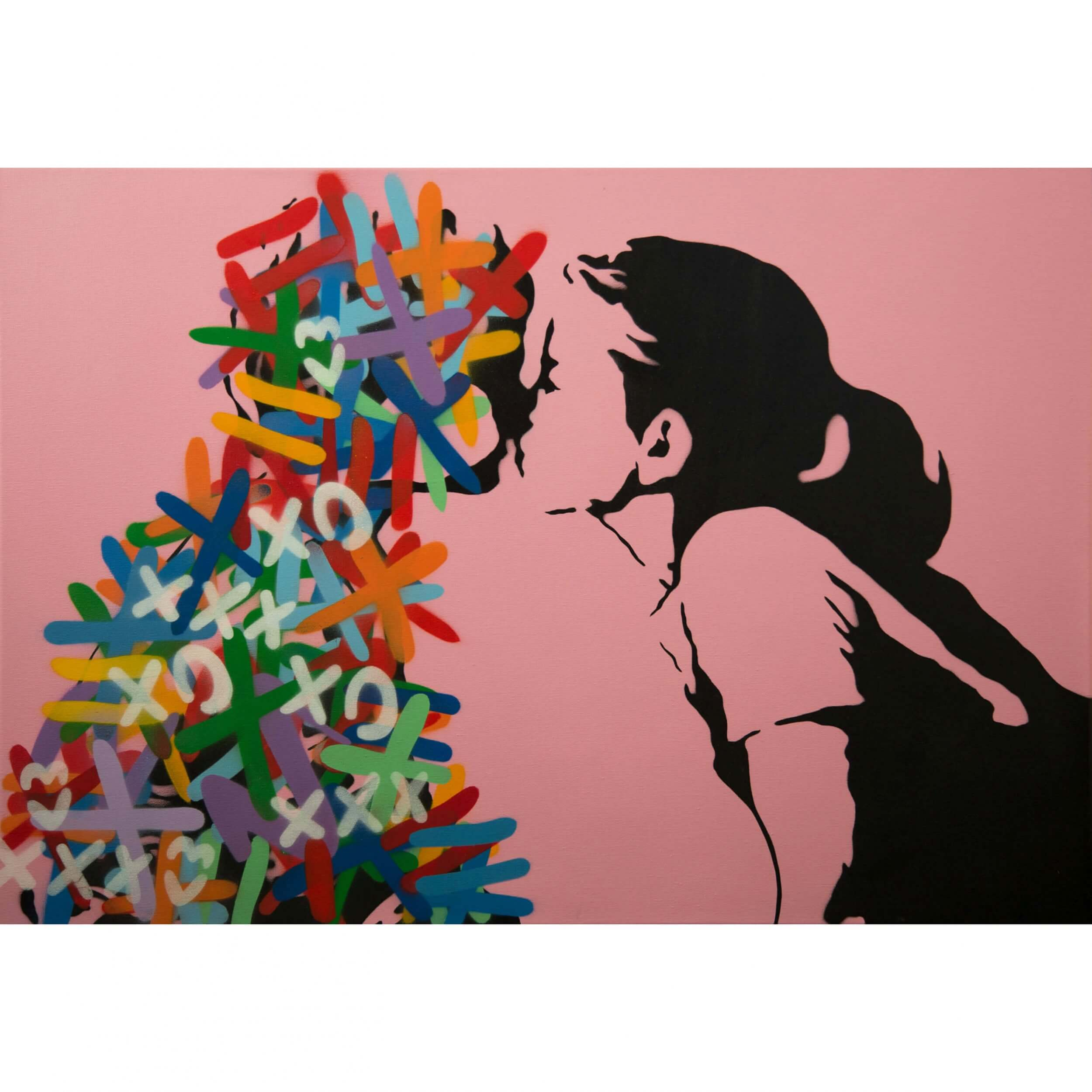 3F - The Kiss (Electric Pink Edition) Canvas