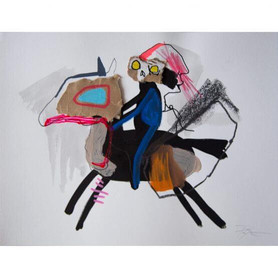 Art is Trash - Original on Paper #10 (2016)