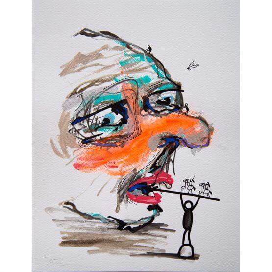 Art is Trash - Original on Paper #11 (2016)