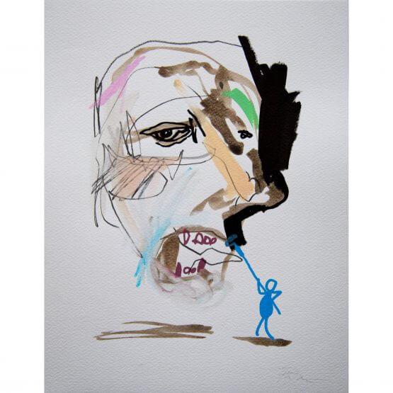 Art is Trash - Original on Paper #14 (2016)