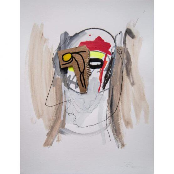 Art is Trash - Original on Paper #4 (2016)