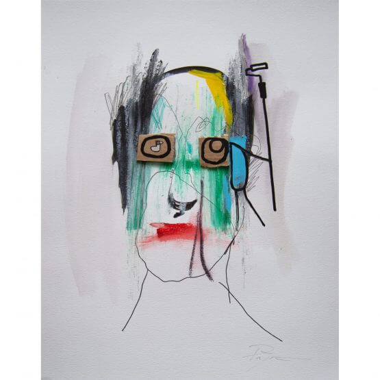 Art is Trash - Original on Paper #8 (2016)