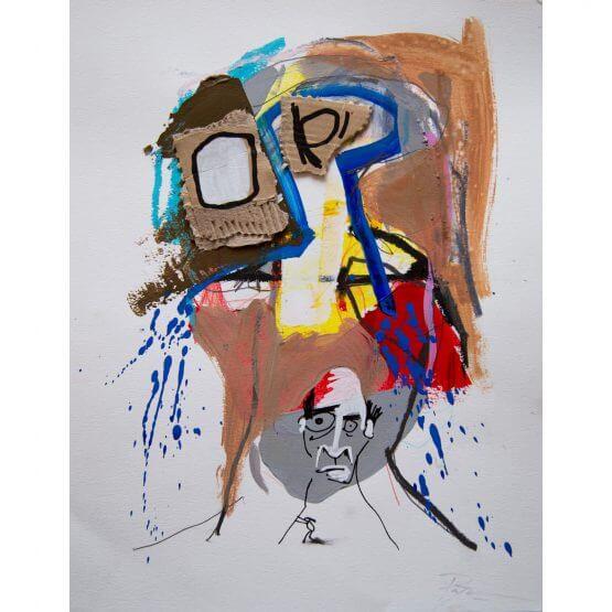Art is Trash - Original on Paper #9 (2016)