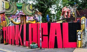 Stik, Street art piece 'Magpie', Phillips auction 2016