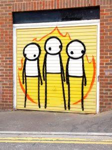 Stik, Street art piece 'Children of fire'