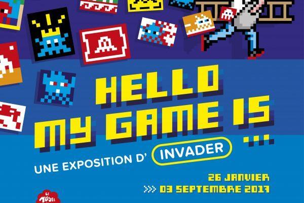 Affiche de l'exposition Paris 2017 credit Invader / le Musée en Herbe
