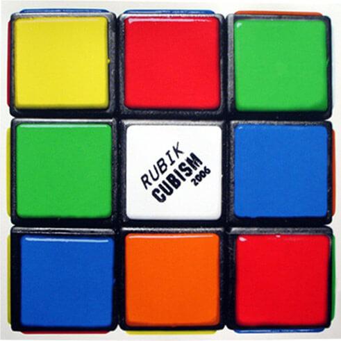 Space Invader - Rubik Cubism Print