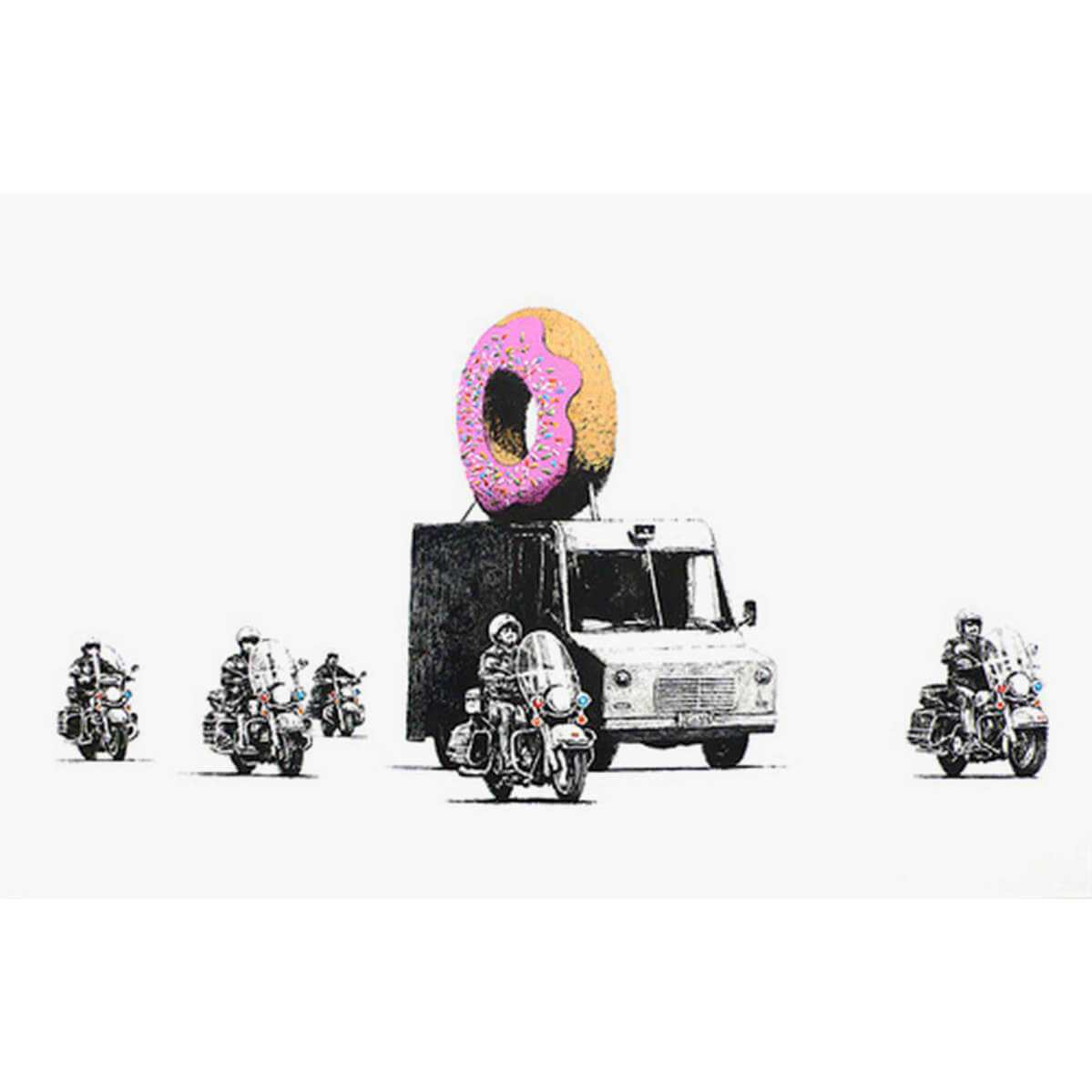 Banksy - Strawberry Donuts (Pink) Print