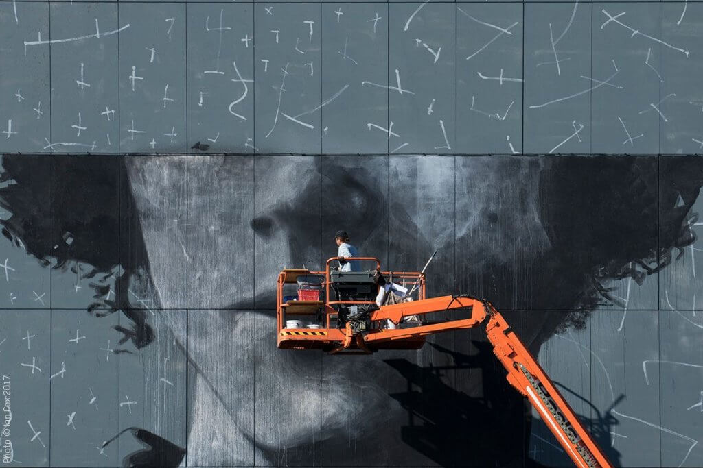 Ricky Lee Gordon, The Crystal Ship Street Art Festival 2017, Photo Credit Ian Cox
