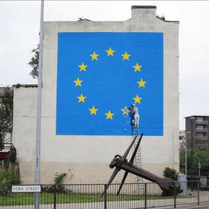 Banksy - Europe Flag Brexit Street Art Dover 2017