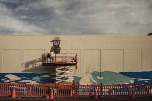Rustam Qbic, Seawalls: Artists for Oceans, Napier, NZ. Photo Credit Vinny Cornelli