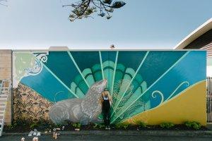 Flox, Seawalls: Artists for Oceans, Napier, NZ. Photo Credit Michael Schultz