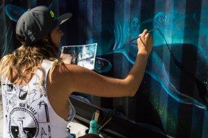 Erika Pearce, Seawalls: Artists for Oceans, Napier, NZ. Photo Credit Olivia Laita