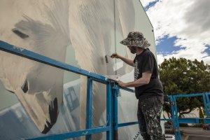 Onur, Seawalls: Artists for Oceans, Napier, NZ. Photo Credit Vinny Cornelli