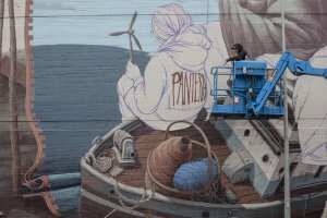 Pat Perry, Seawalls: Artists for Oceans, Napier, NZ. Photo Credit Vinny Cornelli
