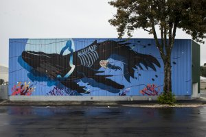 Sabek, Seawalls: Artists for Oceans, Napier, NZ. Photo Credit Tré Packard
