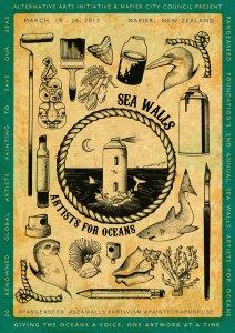 Pangeaseed Seawalls: Artists for Oceans, Napier 2017