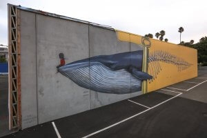 Seth Globepainter, Seawalls: Artists for Oceans, Napier, NZ. Photo Credit Tré Packard