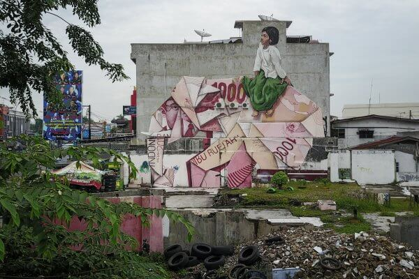 Ernest Zacharevic, Splash and Burn, Sumatra. Photo Credit Ernest Zacharevic
