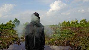Mark Jenkins, Splash and Burn, Sumatra. Photo Credit Ernest Zacharevic