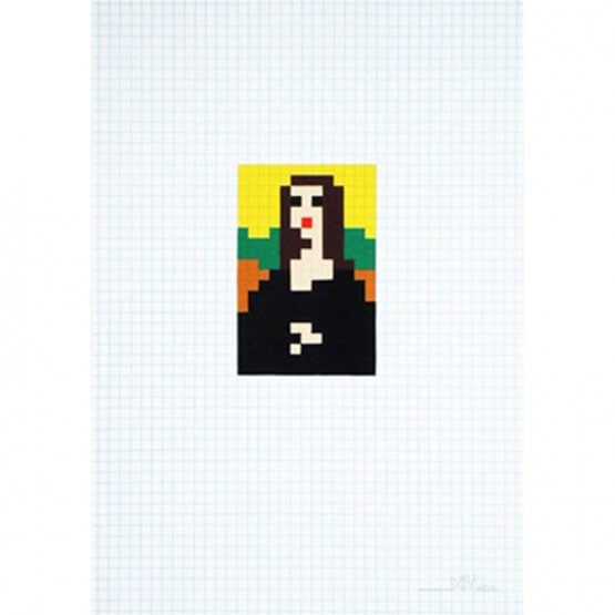 Space Invader - Mona Low Res Print