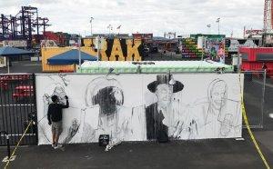 Ganzeer, Coney Art Walls, New York City 2017. Photo Credit Jamie Rojo
