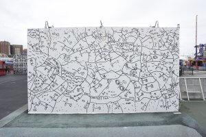 Shantell Martin, Coney Art Walls, New York City 2017. Photo Credit Martha Cooper