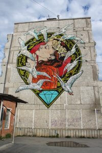 Diamond, Satka Street Art Festival, Russia 2017. Photo Credit Satka Street Art Festival / Fund Sobranie
