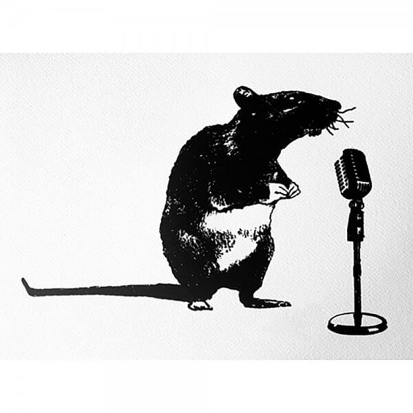 Blek Le Rat - Crooner Rat Print
