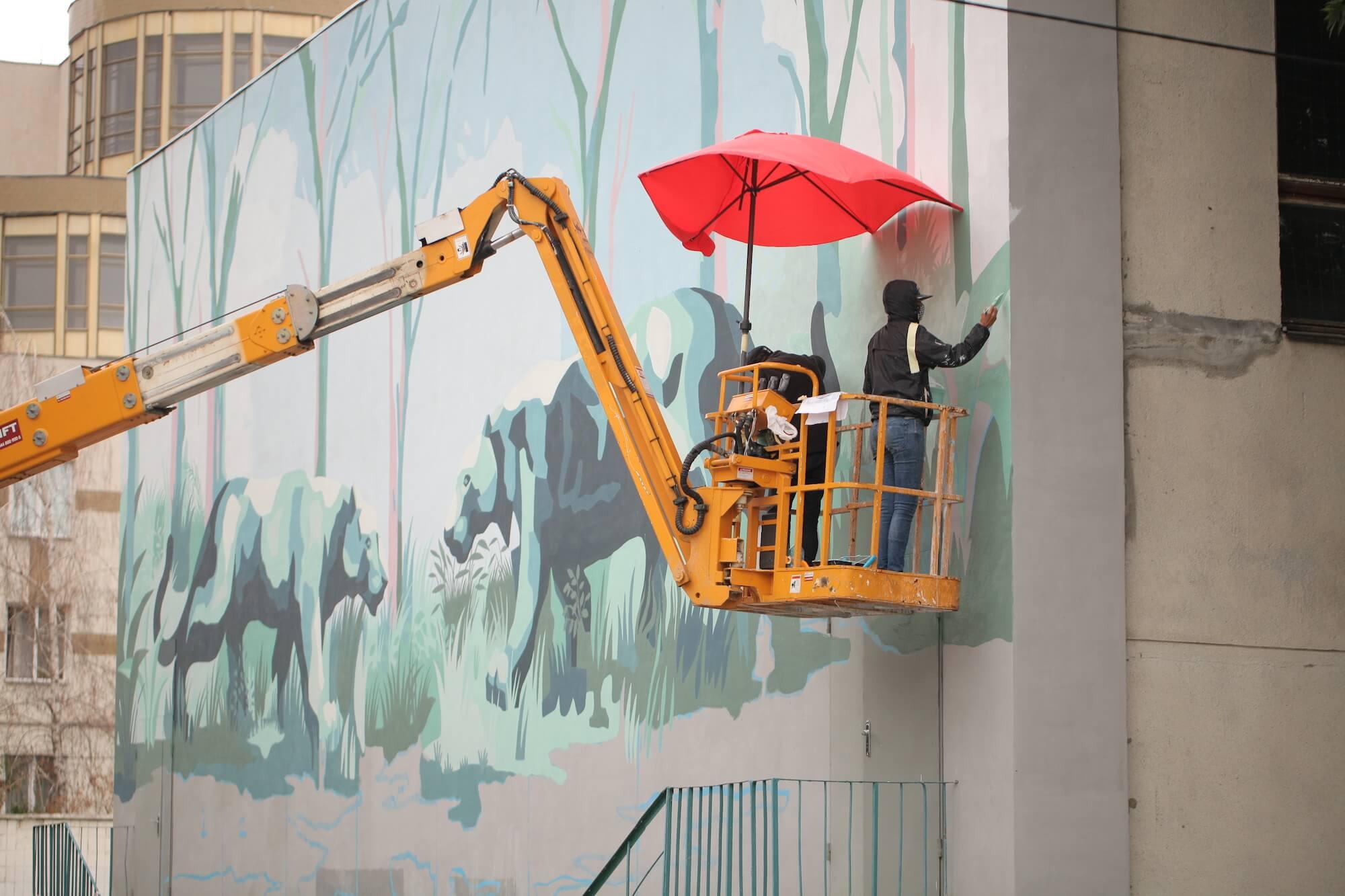 Street Artist Franco Fasoli – JAZ goes Back to School! Ukraine, 2017