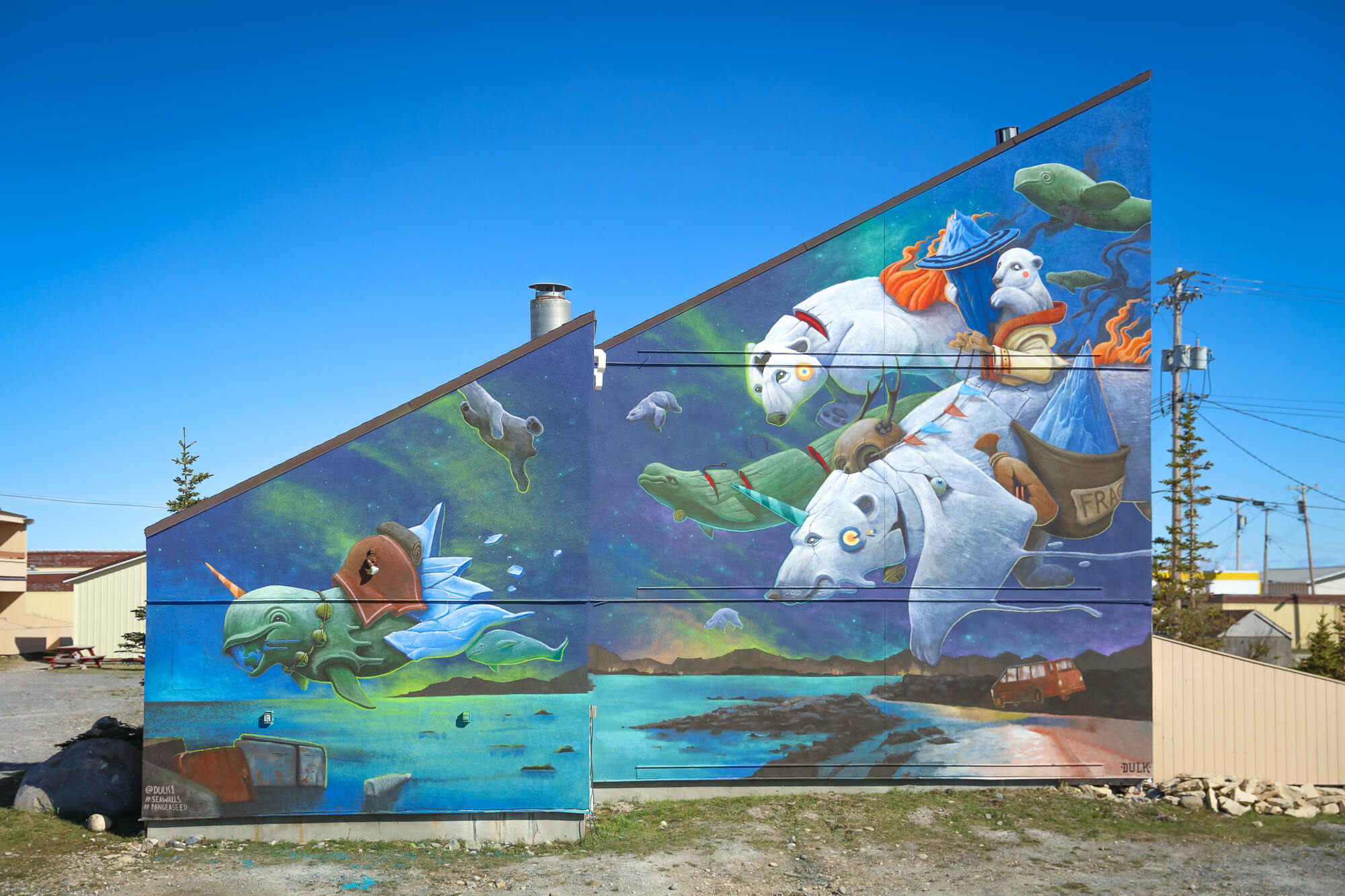 Sea Walls Murals for Oceans in Churchill Canada 2017
