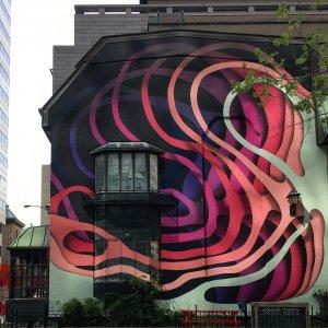 1010, Mural International Public Street Art Festival, Montreal, Canada 2017. Photo credit Instagrafite